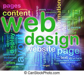 sieć, wordcloud, projektować