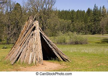 sierra, u'macha, miwok, mieszkanie, kalifornia, albo, plemię