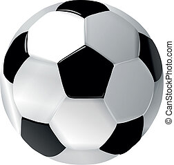 skóra, piłka nożna, biała piłka, czarnoskóry
