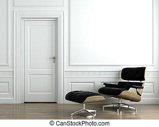 skórzany karzeł, biały, wewnętrzny, ściana