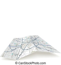 składany, mapa