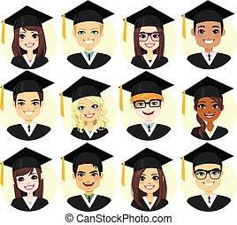 skala, student, avatar, zbiór