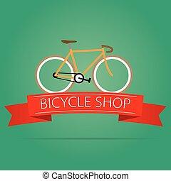 sklep, rower, ikona