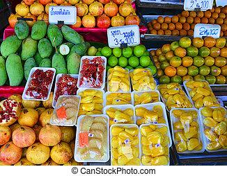 sklep, tajlandia, owoc