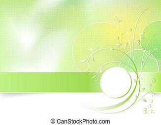 skoczcie kwiat, zielone tło