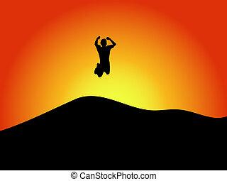 skok, radość