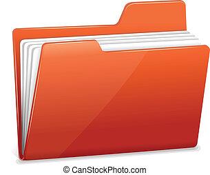 skoroszyt, dokumenty, czerwony, rząd