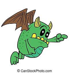 skrzydlaty, potwór
