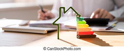 skuteczny, energia, rewizja, dom, gmach