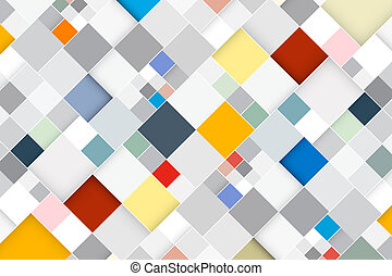 skwer, barwny, abstrakcyjny, nowoczesny, -, wektor, retro, tło