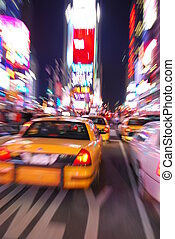 skwer, miasto, czasy, york, nowy