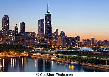 skyline., chicago