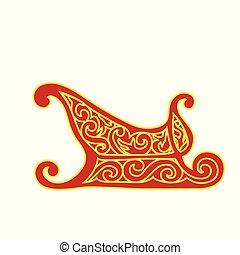 sleigh, kosz, gwiazdkowy dar