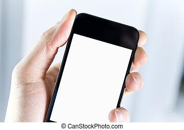 smartphone, dzierżawa, czysty