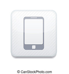 smartphone, eps10, app, wektor, icon., biały