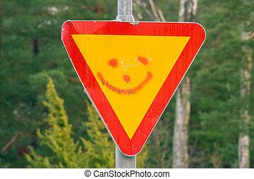 smiley, znak