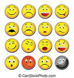 smileys, żółty