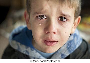smutny, płacz, dziecko