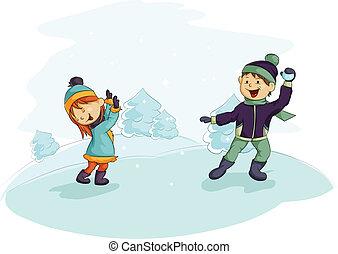 snowball biją się