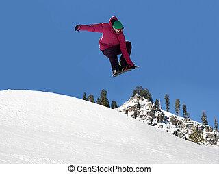 snowboard, skokowy