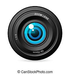 soczewka, aparat fotograficzny, oko