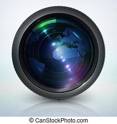 soczewka, kula, aparat fotograficzny