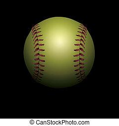softball, czarne tło, ilustracja, shadowed