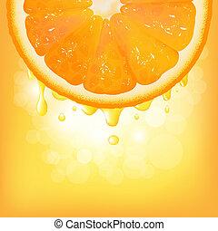 sok pomarańczowy, bokeh, segment