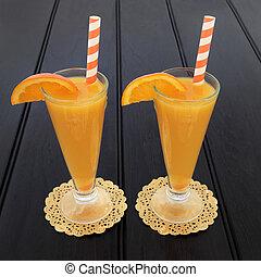 sok pomarańczowy, owoc