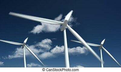 source., zagroda, -, energia, turbiny, alternatywa, wiatr