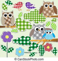 sowy, las, ptaszki