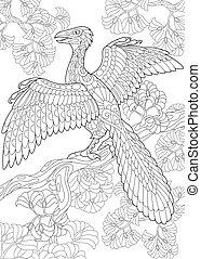 species., wygasły, dinosaur., archeopteryx