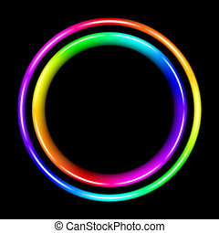 spectral, multicolor, koło