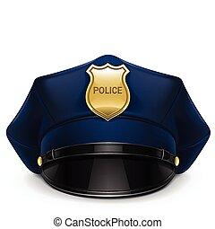spiczasty biret, policja, cockade