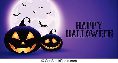 spooky, halloween, chorągiew
