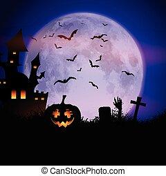spooky, halloween, tło