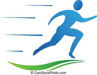sport, człowiek, stosowność, wyścigi, fast.