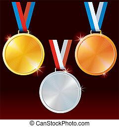 sport, medals