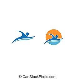 sport, pływacki, logo