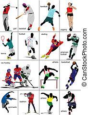 sports., collection., jakiś, rodzaje