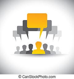 spotkania, to, towarzystwo, abstrakcyjny, personel, &, graphic., spotkanie, towarzyski, lider, ludzie, zjednoczenie, deska, wektor, pracownik, graficzny, student, głos, ikony, przewodnictwo, -, media, etc, wyobrażenia, również, albo, komunikacja