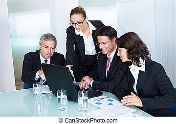 spotkanie, handlowy, mieć, drużyna