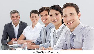 spotkanie, handlowy, pokaz, grupa, rozmaitość