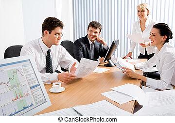 spotkanie, handlowy