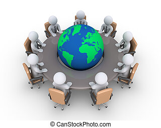 spotkanie, o, globalny, problemy