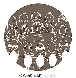 spotkanie, teamwork, handlowy