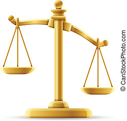 sprawiedliwość czyszczą z łusek, niezrównoważony