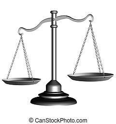 sprawiedliwość czyszczą z łusek, srebro