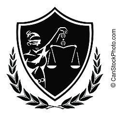 sprawiedliwość, dama, znak