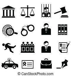 sprawiedliwość, prawny, prawo, ikony
